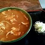 そば処 更科 - カレー南蛮そば750円‼
