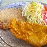 大豪 - ハムカツ+チキンカツ【料理】