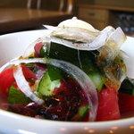 イタリア料理 カンタレーレ - 自家栽培  無農薬野菜のサラダだそうです。 08/08
