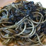 イタリア料理 カンタレーレ - 本日のパスタ  イカスミのスパゲティー 08/08
