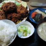 お食事処 田川 - カキフライ定食大盛\900(多分)