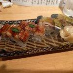 いしもん 本店 - 押し寿司(穴子&バッテラ)