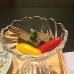 お料理 七草 - シャモロックレバーの和風パテ