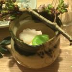 お料理 七草 - 桜チーズ豆腐