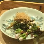 お料理 七草 - 烏賊と水菜の煮びたし