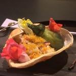 お料理 七草 - ズワイガニと粉唐墨 橙酢