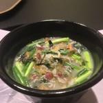 お料理 七草 - 雑魚と雲丹のうどん