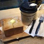 66902257 - 黒糖パンのトーストセット800円