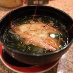回転鮨 清次郎 - 海老味噌汁