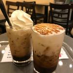 米本珈琲 - カフェメランジェとキャラメルカプチーノ