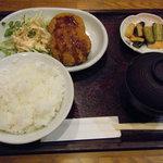 角屋食堂 - メンチカツ定食