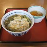 山田うどん - 料理写真:「あおさとあさりのかき揚げ丼」です。