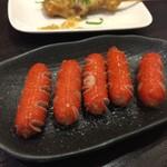七津屋 - 赤ウインナー