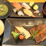 66917598 - お寿司とステーキ御前2440円