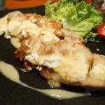 ダイニングバー まんげつ - 鶏チーズ包み焼き