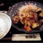 6692695 - 国産地鶏と野菜の黒酢炒め定食