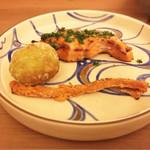 日本料理 晴山 - (2017年5月)トキシラズ、自家製ばちこ、そら豆