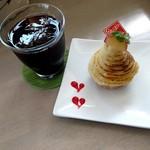 ボナペティ - スイートポテトとアイスコーヒー♪eatスペースあるのいいよね‼