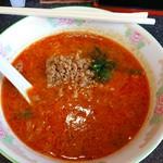 66923191 - ザンタレ定食の担々麺(ハーフ)大辛(^^)                       単に辛いだけでなく、ダシ?がきいてて美味しい!                       辛さは、より辛い辛くない調整できます。