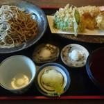 66924979 - 鱧と海老の合い盛り天ぷらせいろ  蕎麦大盛  1910円