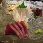 いごこち屋 あんばい - 本日のお刺身お好み2点盛り(カツオ、石鯛)
