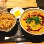 カレーうどん 千吉 - ごぼうかき揚げ丼セット