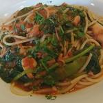 トラットリア ラ・スカーラ エ ピアディーナ - 野菜とイカのトマトソーススパゲッティ