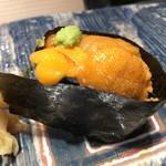 第三春美鮨 - エゾバフンウニ 三年生 潜水器漁 北海道国後島 海苔 アサクノリ種 有明海島内啓次
