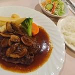 レストランヴェルデ - 米沢牛ハンバーグ