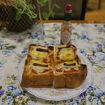 マイルストーン - 厚切りピザトースト2