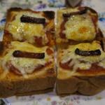 マイルストーン - 厚切りピザトースト3