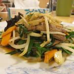 ぎょうざの満洲 - 料理写真:レバニラ炒め