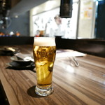 炭火焼ホルモン ぐう - 生ビール