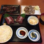 Kujiranotomisui - 鯨刺身定食、鯨立田揚、鯨ステーキ
