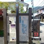 66962448 - 旧北国街道・柳町の案内板です。(2017年5月)