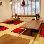 KOREAN KITCHEN ペゴパ - くつろげる掘りごたつ式の座敷
