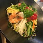 安曇野 - サラダそば