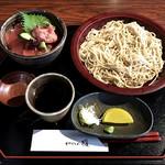 66964510 - 鮪・ねぎとろ丼と十割蕎麦セット ¥800