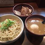 麺処 と市 - 味玉ちゃーしゅーつけ麺