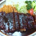 くいしん坊 - 味噌カツ定食 1200円