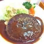 くいしん坊 - ハンバーグ定食 1200円 2番目オシ