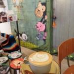 ギャラリー & カフェ ズーロジック - 可愛い壁のイラストとラテアート♡