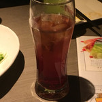 九州地鶏個室 阿蘇山 - カシスウーロンですが薄めて薄めてなんの味もしない色付き水w