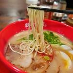 鶏白湯 京都ラーメン まるひで商店 - 麺リフト