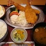 海老どて食堂 - 海老ふりゃ~食べくらべランチ 1,706円