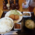 梅佶 - 鶏メンチカツ定食