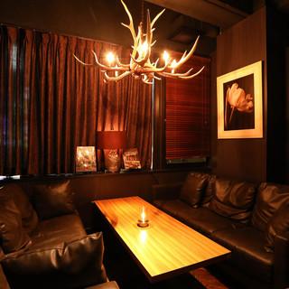 ゆったりソファ個室はパーティや女子会にぴったり
