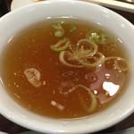 天龍 - 炒飯590円に付くスープ