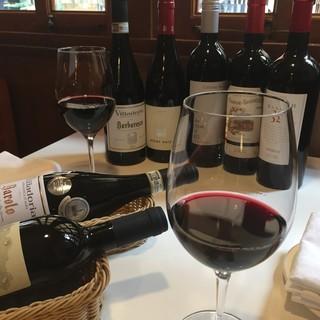 種類豊富なグラスワインを美味しい食事に合わせてお楽しみ下さい