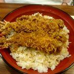十和田 - えび2本天丼:1,300円